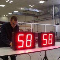 Visualizzatore a led per temperatura forno interfaccia analogica 4-20 mA
