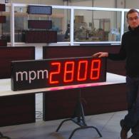 Display con numeri led visualizzazione dati mpm per industrie