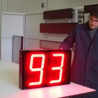 Display industriale pezzi prodotti interfaccia analogica in corrente 4-20 mA