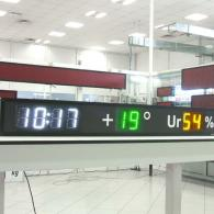 time date temperature umidity led display for industrial environment