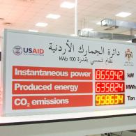 Jordan LED board for the control of produced energy for photovoltaic plant