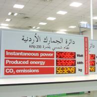 Led display PWD7-130C3 photovoltaic plant in Jordan