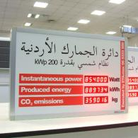 Display wih red LEDs for Jordan energy plant model PWD2-60C3