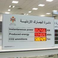 CO2 emmitions reduction via this display installed in a Jordan energy plant