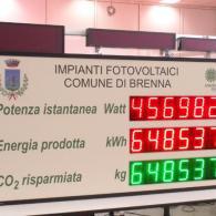 Tabellone a led per monitoraggio energia prodotta