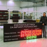 Display fotovoltaico per doppio impianto fotovoltaico