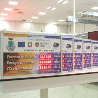 Display a led RS485 per monitoraggio dell'energia solare