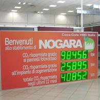 led Display per impianto fotovoltaico Coca-cola