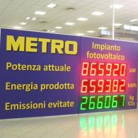 Display gigante per impianto fotovoltaico METRO Cash&Carry