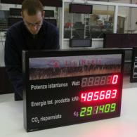 Display a led per energia da fotovoltaico