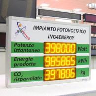 Display gigante per potenza istantanea da impianto fotovoltaico