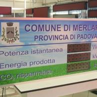 Display sinottico per impianto fotovoltaico Comune di Merlara