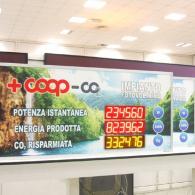 Display luminoso per Coop, Lombardia Movimento 5 Stelle (M5S)