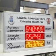 Totalizzatore numerico per visualizzazione impianto termosolare