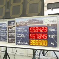 Display PWD a led per controllo impianto idroelettrico