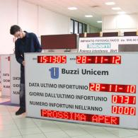 Display led SD-TBV10-68844 per statistiche infortuni Buzzi Unicem