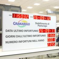 Giant led display to visualize days record without injuries