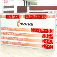 Display led SD-TBV10-688444 per la sicurezza su lavoro. Produzione Italia
