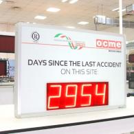 led giant display for accident prevention