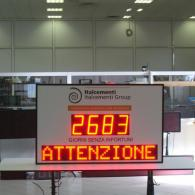 Large Accident Display to visualize days without incidents in workplace