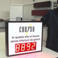 Display elettronico 4 cifre per prevenzione incidenti su lavoro