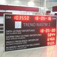 Display a led gigante SD-TBV5-688444 per infortuni su lavoro ILVA