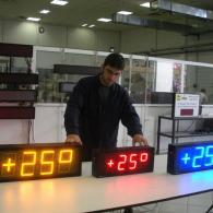 Termometri orologi led blu giallo rosso TM15 e TM10 per temperatura °C
