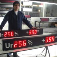 superbright umidity temperature led display