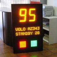 Display Andon-X numerico per aeroporto, volo e semaforo