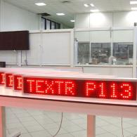 programmable moving message display, 8 bit interface