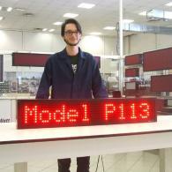 Display P113 a led rossi per collegamento a PC o PLC