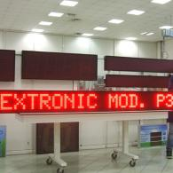Display P370 monolinea 3,7 metri di lunghezza per industria