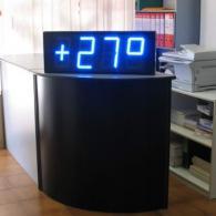 Display superluminoso blu protetto da esterno visibile anche di giorno, radio controllato