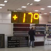 Orologio termometro da esterno TM100 altezza cifre 1 metro, con GPS e protetto IP54