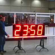 TM47 orologio temperatura bifacciale a led produzione italiana