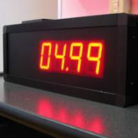 Display orologio nero a led con vinile adesivo a 4 cifre protetto IP65