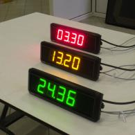 Display a led T5-4 orologio con server NTP. Produzione Italia