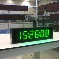 Orologio ore minuti secondi verde con sincronismo orario GPS