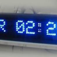 Display orologio led datario blu