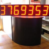 Riga led numerica grande a 7 cifre, BCD per alluminio industria siderurgica