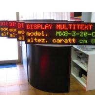 Display a led a 3 righe con messaggi variabili per aziende. Produzione Italia
