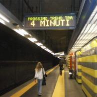 Display elettronico a 2 righe per Metropolitana di Roma led multicolor fullscreen