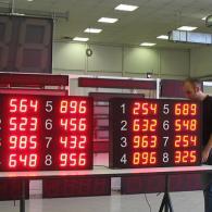 LED display per monitoraggio pezzi prodotti modbus RS485