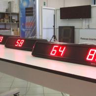 Visualizzatore numerico a 2 campi rossi per industrie. Produzione Italia