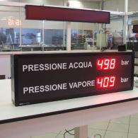 Display Andon-X pressione bar interfaccia profibus. Produzione Italia