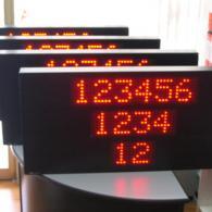 Tabellone numerico luminoso a led con ingresso modbus RS485 e ethernet