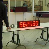 Pannello led cronoemetro contdown con interfaccia BCD. Produzione Italia