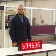 Display a led CR10-6 a 6 cifre ore minuti secondi pilotabile da fotocellula