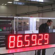Cronometro led gigane con Start - Stop - Reset. Produzione Italia