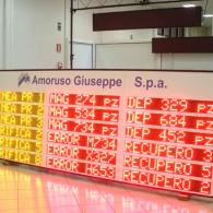 Display a led multiriga grafica personalizzata, per logistica